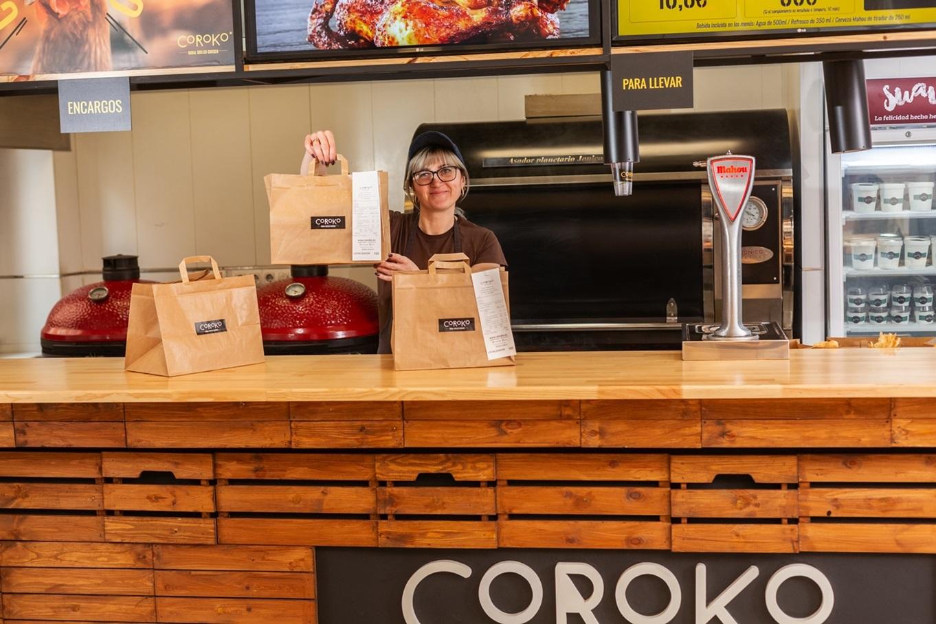 Coroko, restaurante pollos a l'ast en Gandia. Para llevar o comer. Barato