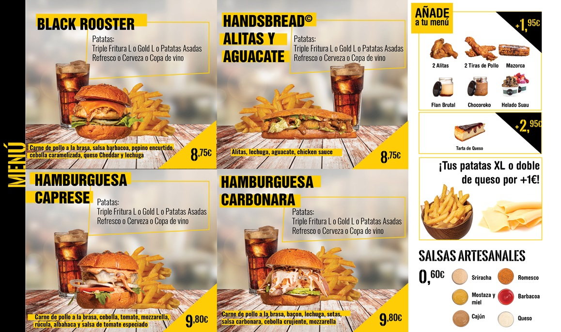hamburguesas de pollo coroko. Servicio a domicilio gandia