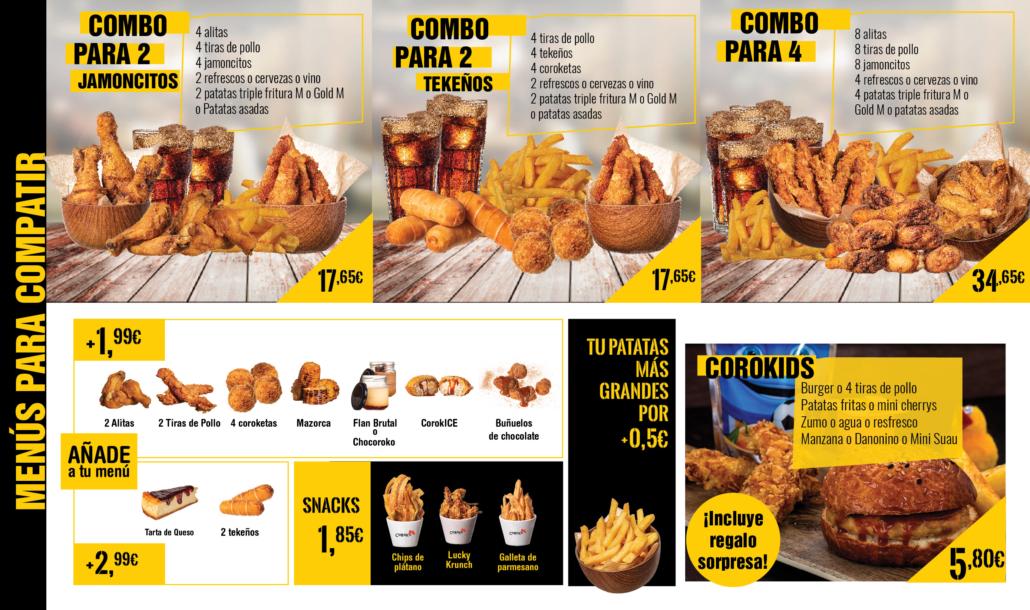 menu coroko